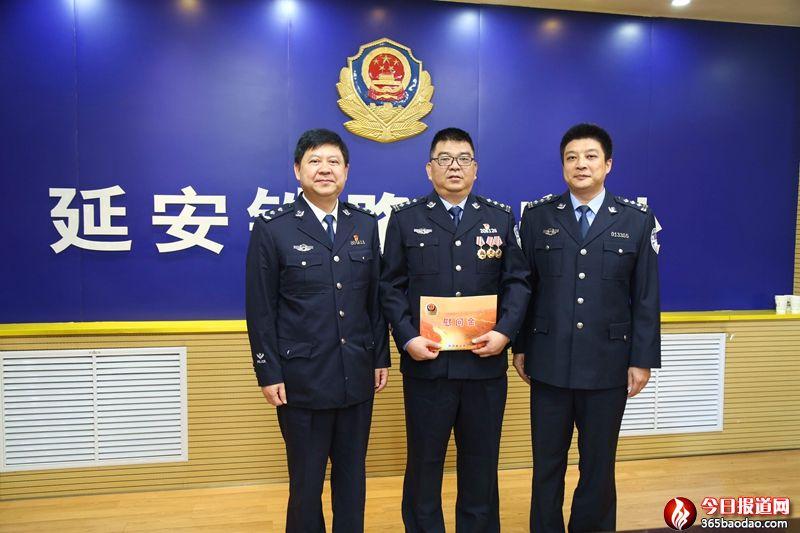 公安部副巡视员刘志刚一行到延安铁路公安处进行大庆安保慰问督导