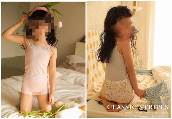 """儿童内衣广告疑涉""""软色情""""?网友:令人作呕"""