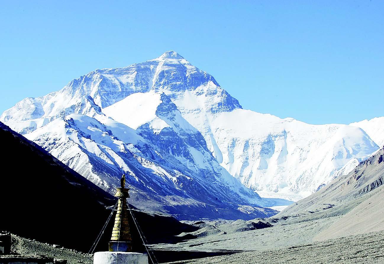 珠穆朗玛峰最新高程为8848.86米
