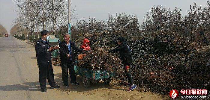 山东省青州市公安局组织开展秸秆焚烧严查整治行动