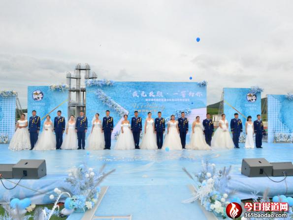 蓝焰白纱,执手不离哈尔滨市消防救援支队隆重举行指战员集体婚礼1066.png
