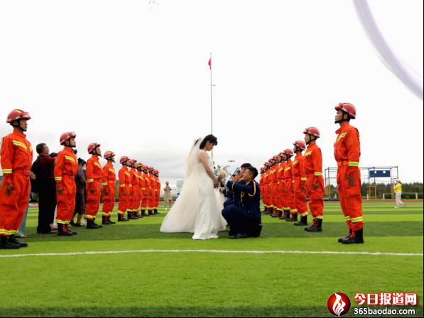 蓝焰白纱,执手不离哈尔滨市消防救援支队隆重举行指战员集体婚礼397.png
