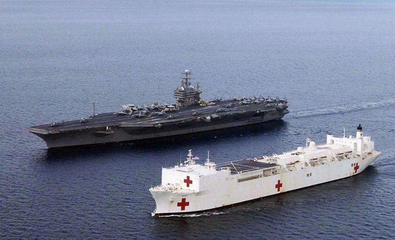 美军动用世界最大医院船抗击疫情 却不收治确诊患者