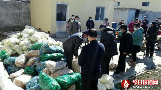 山东沂水县网格员孙海波新上任捐菜又捐盐群众笑开颜
