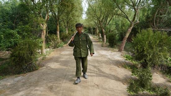 """新疆8旬老人""""植绿""""不停歇:从没放弃植树育苗"""
