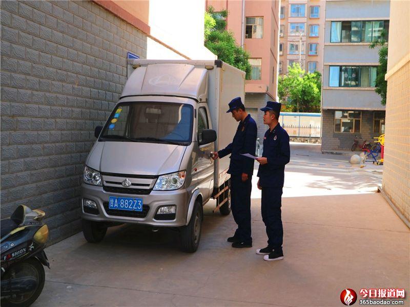 甘肃景泰消防处理消防车通道占用举报投诉开出罚单