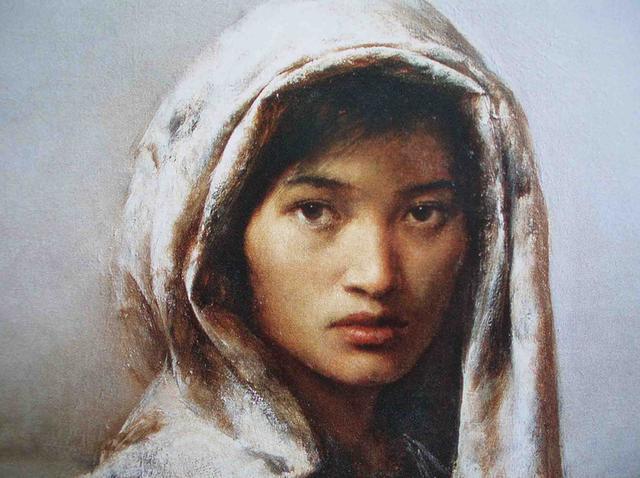 看解放军艺术学院张利教授的肖像画,就感到一种平静的魅力
