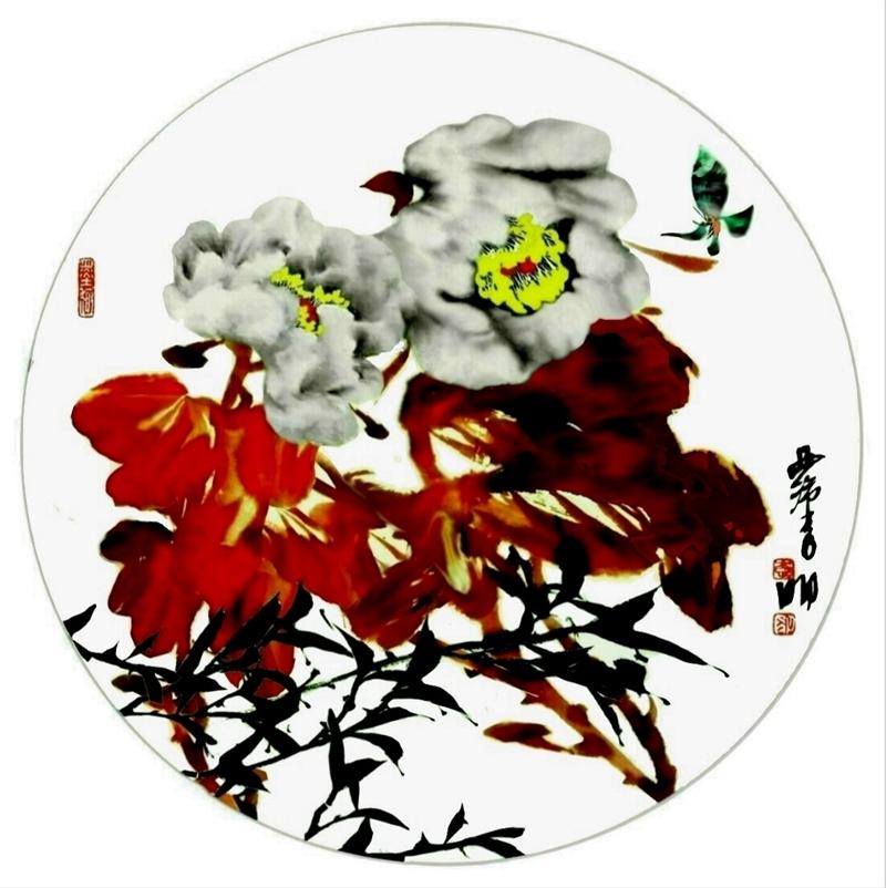 著名书画家国家一级美术师李明先生室内国花饰品 鉴 赏