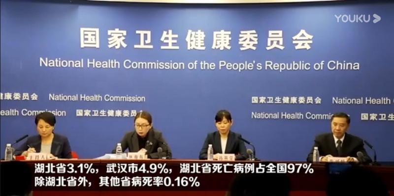 国家卫健委:确诊病例病死率2.1%