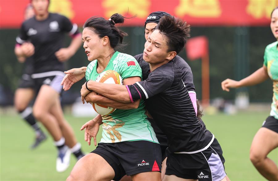 橄榄球——奥运会模拟对抗赛在南京举行