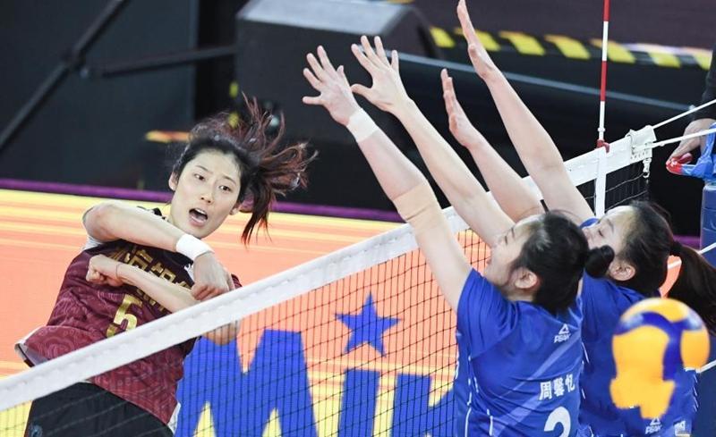 女排联赛:天津队夺冠