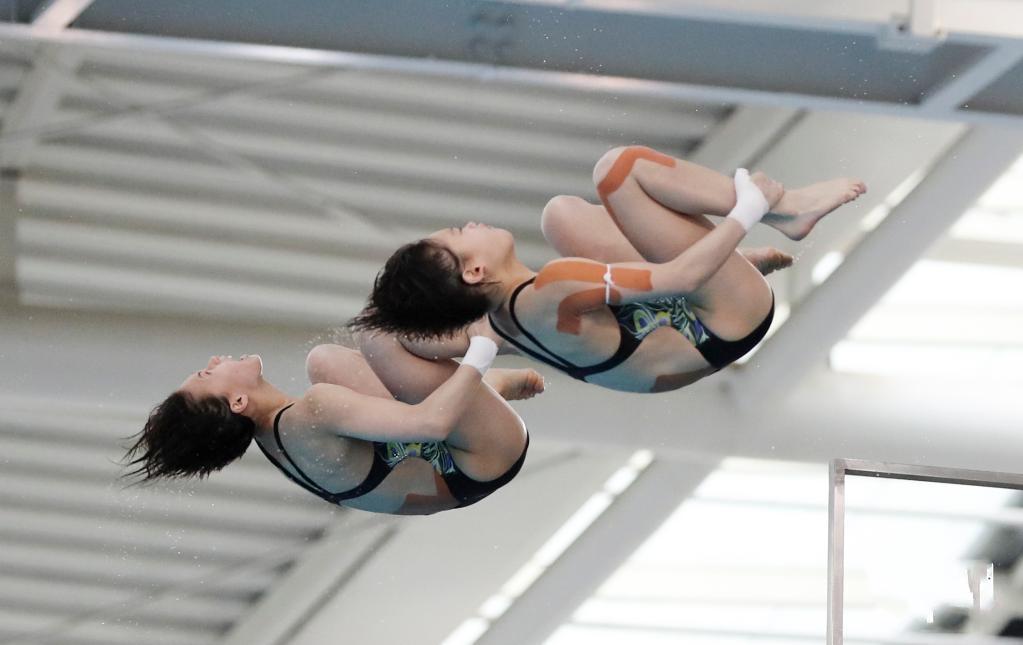 跳水——全国冠军赛:张家齐/陈芋汐女子双人10米跳台夺冠