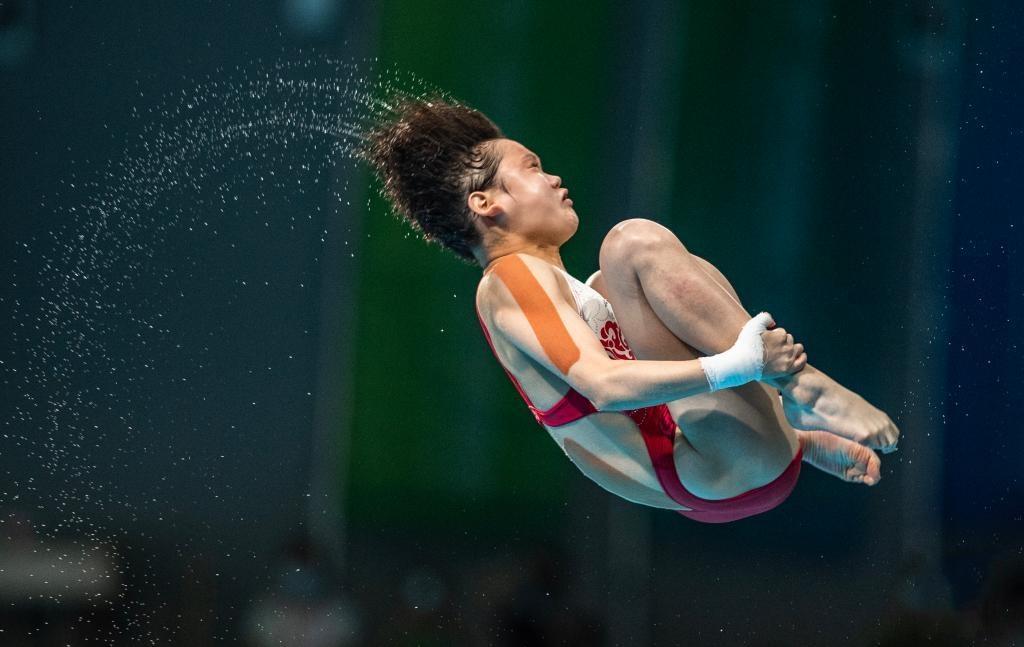 全运会:全红婵获得女子10米跳台冠军