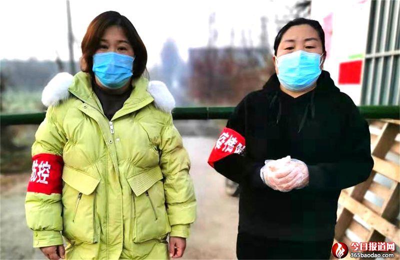 """山东郯城:村街""""巾帼女""""坚守疫情防控点"""