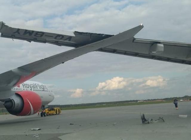 莫斯科机场两架飞机相撞 其中一架即将飞往北京
