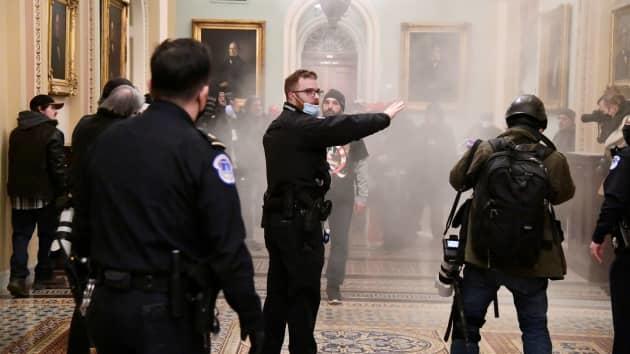 """时隔六年美国民主党夺回参院控制权 华盛顿大乱 特朗普支持者""""占领""""国会"""